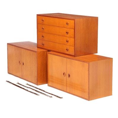 H. G. Furniture Danish Modern Teak Wall Cabinets