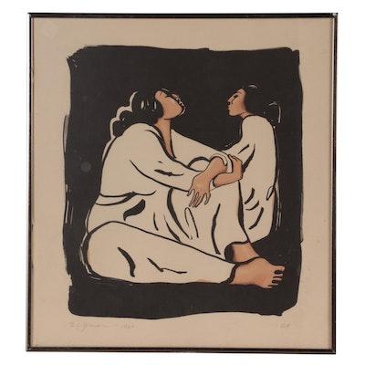 "R.C. Gorman Lithograph ""Night,"" 1980"