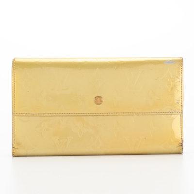 Louis Vuitton Port-Trésor Wallet in Monogram Vernis Leather