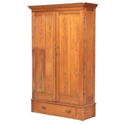 American Primitive Yellow Pine Cupboard, Late 19th Century
