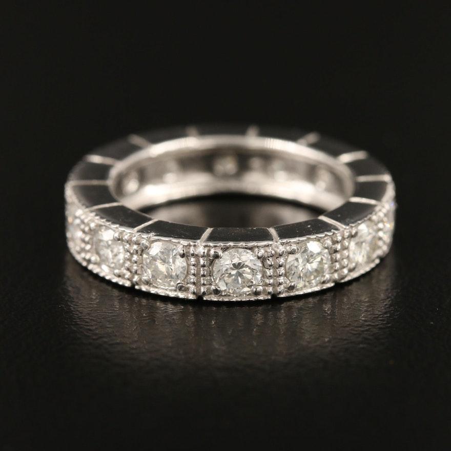 14K 1.73 CTW Diamond Eternity Band with Milgrain Detail