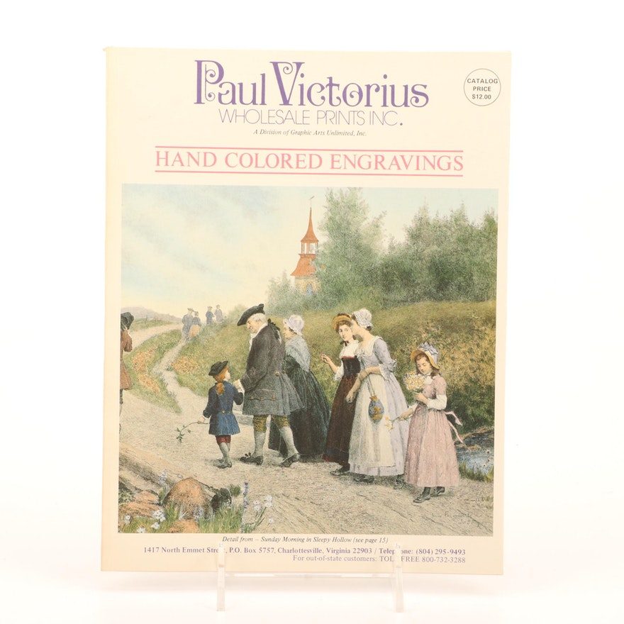 Paul Victorius Hand Colored Engravings Catalog, Late 20th Century