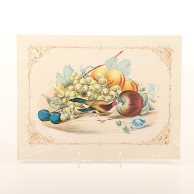 """Offset Lithograph """"Gathering From The Orchard"""""""