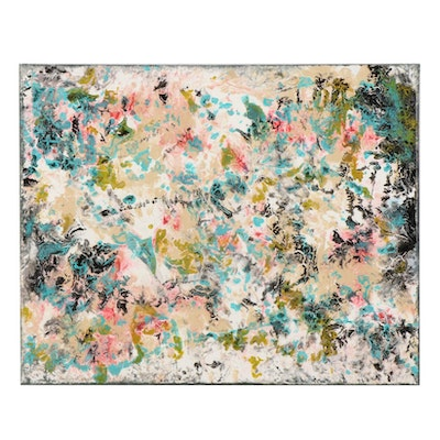 Farnoosh Lanjani Abstract Expressionist Mixed Media Painting, 2021