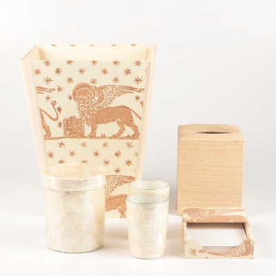 Il Prato Home Collection Including Waste Basket and Note Pad