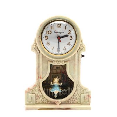 "MasterCrafters ""Swingtime"" Illuminated Swing Mantel Clock, 1950s"