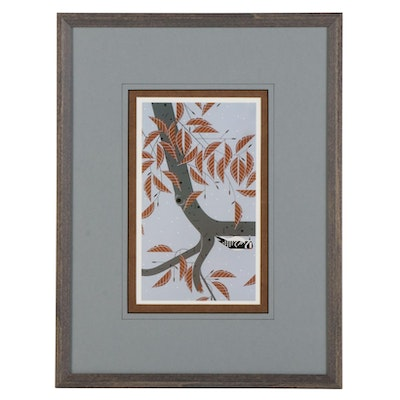 """Offset Lithograph After Charley Harper """"Upside Downy,"""" Late 20th to 21st Century"""