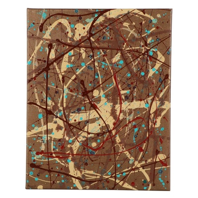 Farnoosh Lanjani Abstract Expressionist Acrylic Painting, 2021