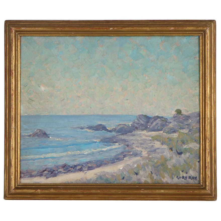 """Gary Ray Oil Painting """"Leo Carrillo,"""" Late 20th Century"""