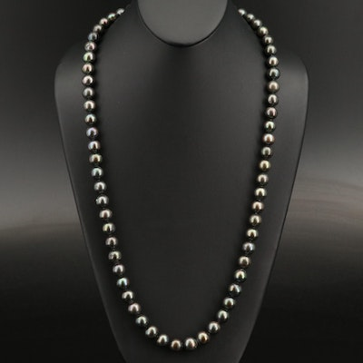 Pearl Necklace with 14K Clasp Necklace