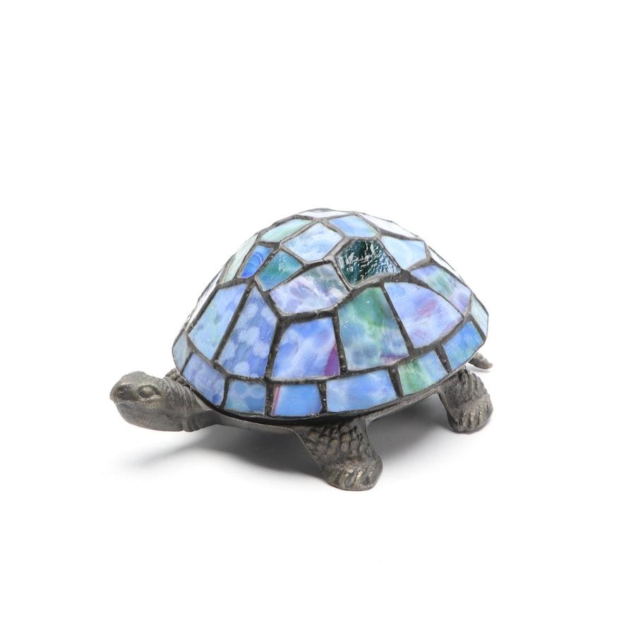 Wisteria Lighting Slag Glass Turtle Lamp