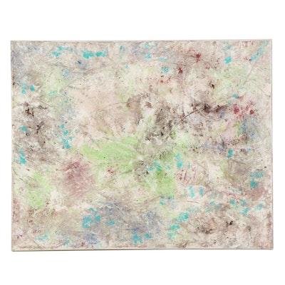 Farnoosh Lanjani Abstract Mixed Media Painting, 2021
