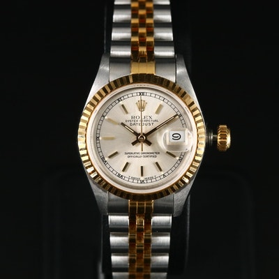 1989 Rolex Datejust 18K Gold and Stainless Steel Automatic Wristwatch