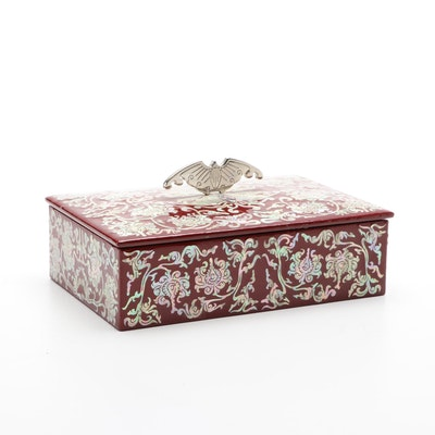 Vietnamese Mother-of-Pearl Inlaid and Lacquerware Box