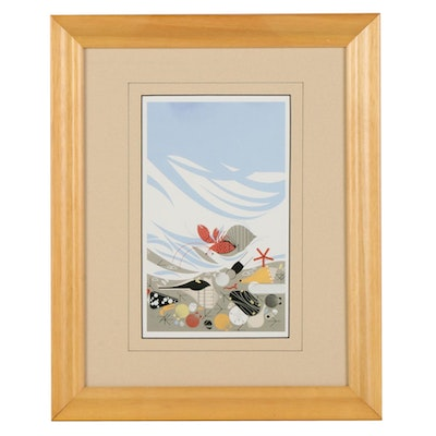 """Offset Lithograph After Charley Harper """"Crabitat,"""" Late 20th to 21st Century"""