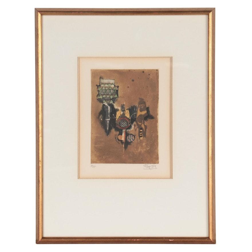 "Johnny Gotthard Friedlaender Aquatint from ""S Miniatures,"" Late 20th Century"