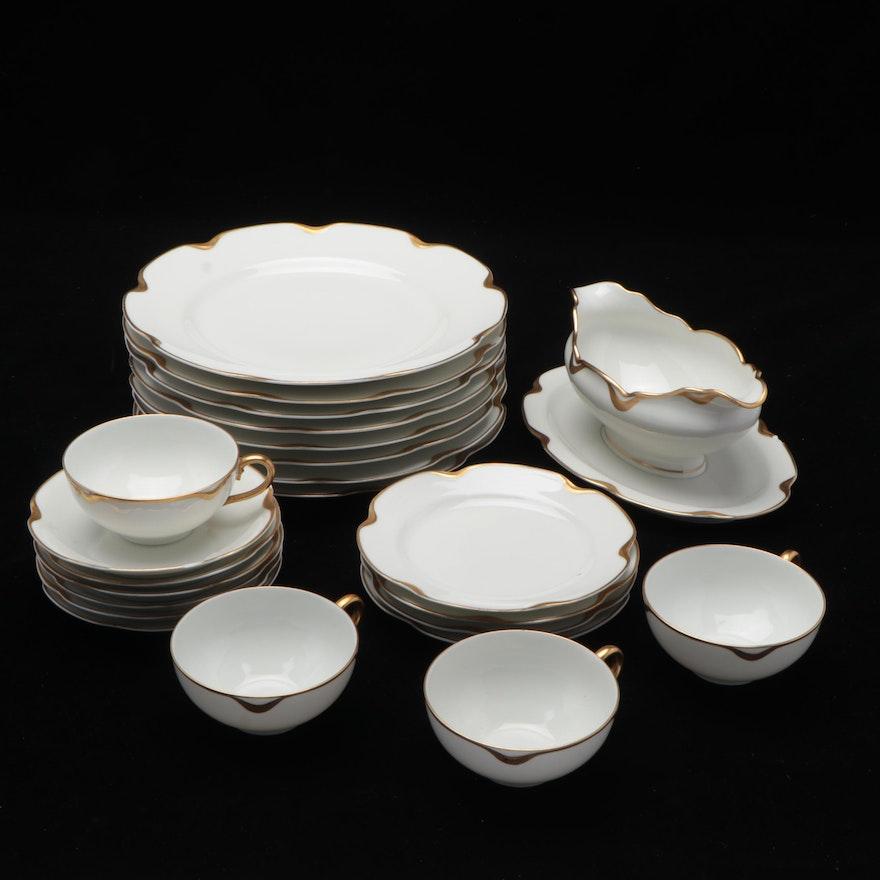 """Haviland & Co. Limoges """"Silver Anniversary"""" Porcelain Dinnerware"""