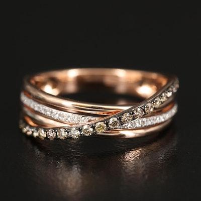 EFFY 14K ROSE GOLD DIAMOND, ESPRESSO DIAMOND, RING