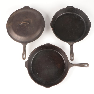 Wagner's 1891 and Other Cast Iron Skillets, Late 20th Century