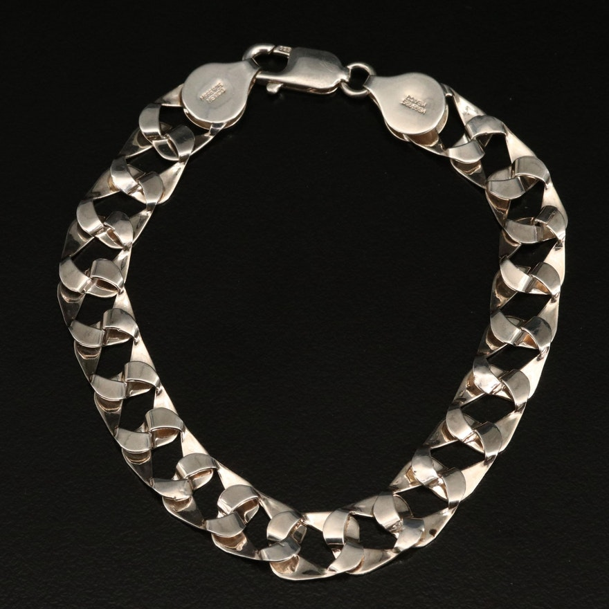 Sterling Curb Chain Bracelet