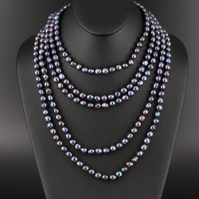 Endless Pearl Rope Necklace