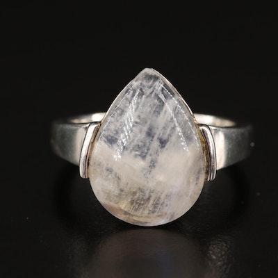 Sterling Moonstone Teardrop Ring