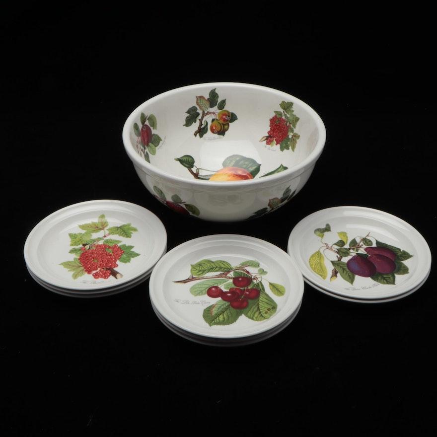 "Portmeirion ""Pomona"" Porcelain Serving Bowl and Dishes"