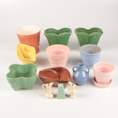 McCoy, Robinson Ransbottom, Nelson McCoy and More Art Pottery Vases and Planters