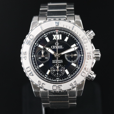 Gevril Sea Cloud Chronograph Stainless Steel Automatic Wristwatch