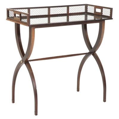 Barbara Barry for Baker Furniture Mirrored Tray Table