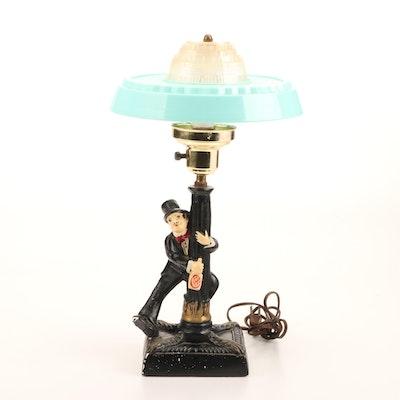 Charlie Chaplin Lamp Post Chalkware Novelty Lamp
