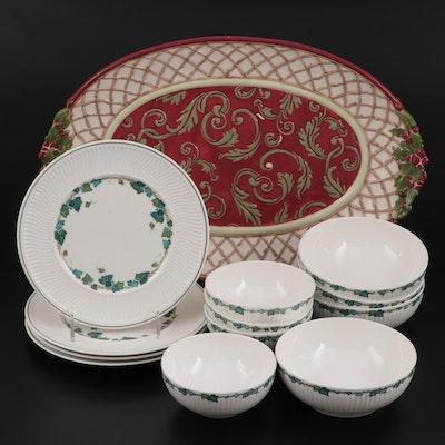 "Villeroy & Boch ""Joy Noel"" Porcelain Tray and ""Green Park"" Dinnerware"