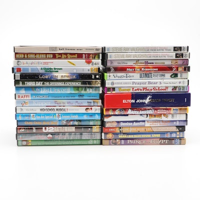 """Children's and Music Concert DVDs Including """"Chitty Chitty Bang Bang"""" and More"""