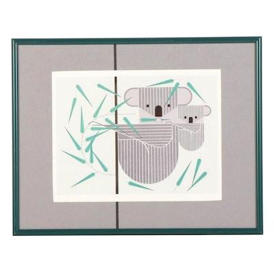 "Offset Lithograph After Charley Harper ""Koala Koala,"" Late 20th-21st Century"