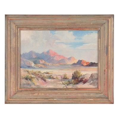 """Wayne Lowdermilk Landscape Oil Painting """"Western Scene"""""""