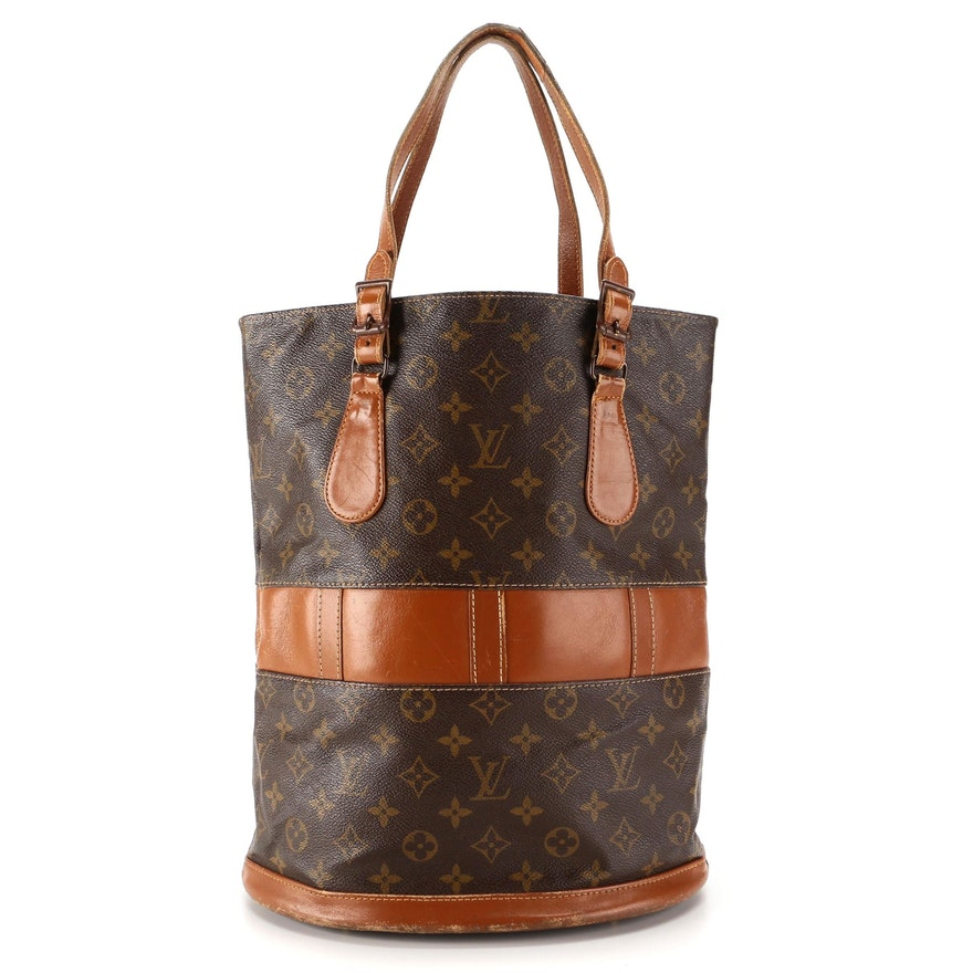 The French Company for Louis Vuitton Bucket Bag in Monogram Canvas and Leather