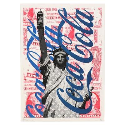 "Death NYC Pop Art Graphic Print ""Jack & Coke 2,"" 2020"