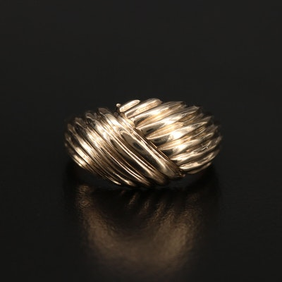 10K Fluted Ring