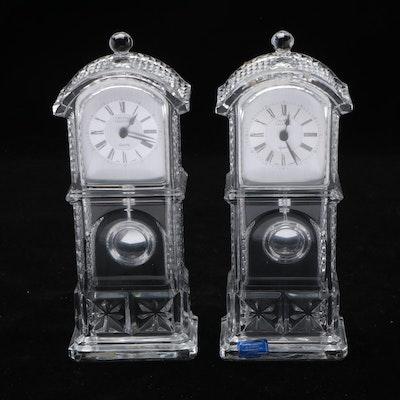 Crystal Legends by Godinger Longcase Form Desk Clocks
