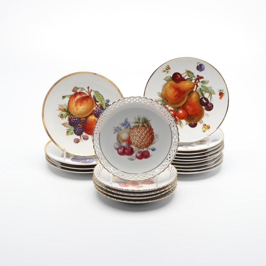 Mitterteich, Debra (Bavarian) and Schumann Hand-Painted Porcelain Plates