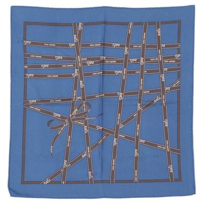 """Hermès """"Bolduc"""" 42cm Silk Twill Scarf"""