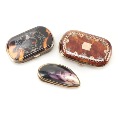 Gilt and Tortoiseshell Coin Purses with Other Shell Coin Purse