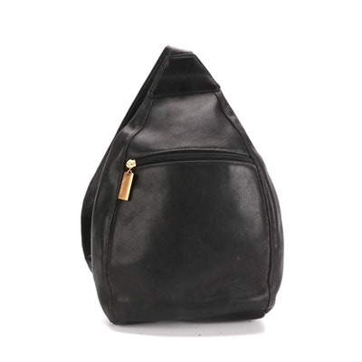 Tignanello Sling Bag in Black Leather