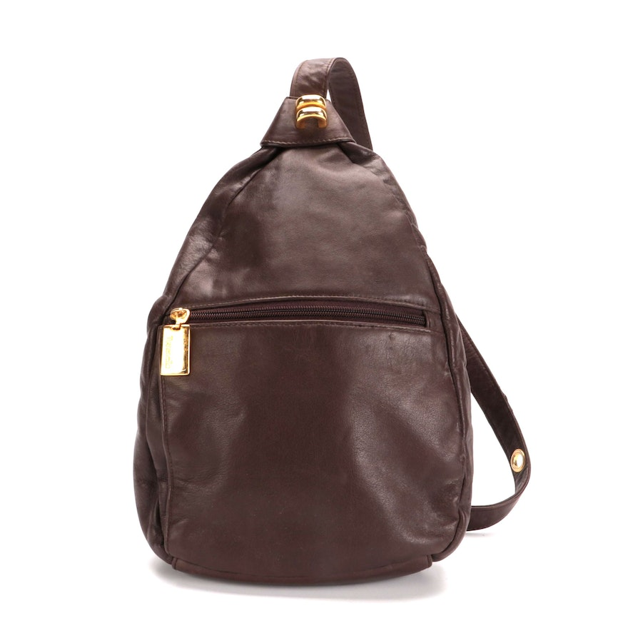 Tignanello Sling Bag in Brown Leather