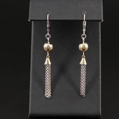 14K Tassel Earrings