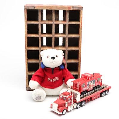 Vintage Coca-Cola Polar Bear, Crate, Engine and Semi-Truck