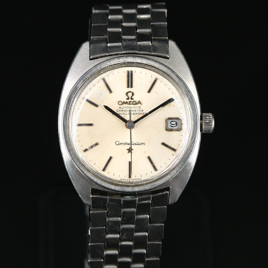Omega Automatic Constellation Stainless Steel Wristwatch