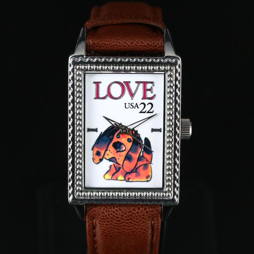 "U.S. Postal Service ""Love Stamp"" Wristwatch"