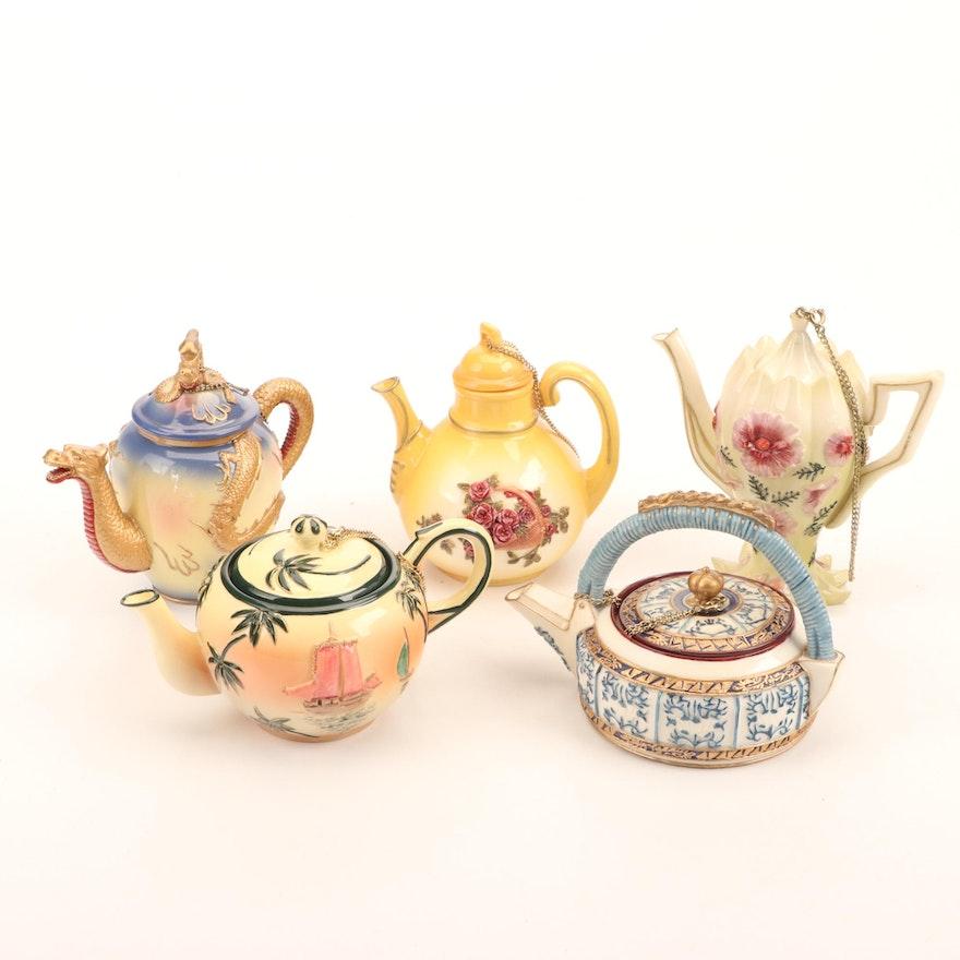 Nini Hand-Painted Porcelain Miniature Teapots