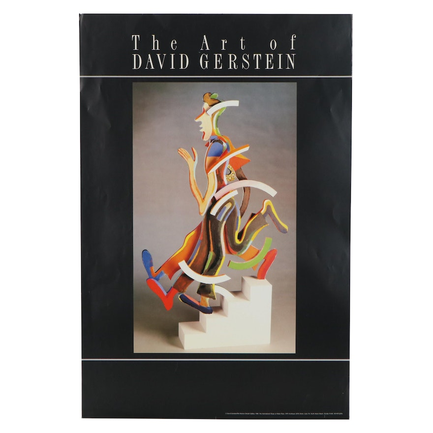 """The Morton Sinclair Gallery Exhibition Poster """"The Art of David Gerstein,"""" 1988"""